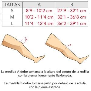 Tabla de medidas CTi OTS