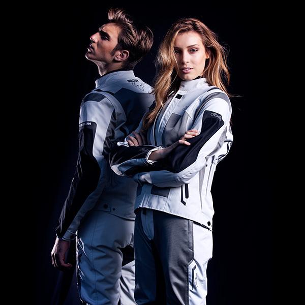 Chaqueta y pantalón para motorista de la marca Breeze