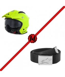 pack-casco-acerbis-aria-cinturon-alpinestars-friction