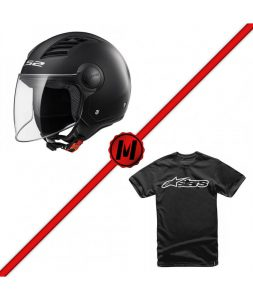 pack-casco-ls2-of562-airflow-solid-camiseta-alpinestars-blaze-classic