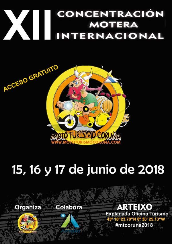 XII Concentración motera internacional mototurismo Coruña