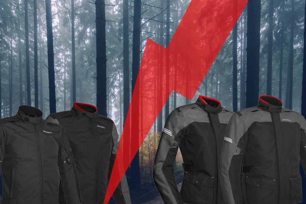 Tenemos las dos chaquetas moteras Acerbis con las que tu chica y tú viajaréis hasta la próxima primavera