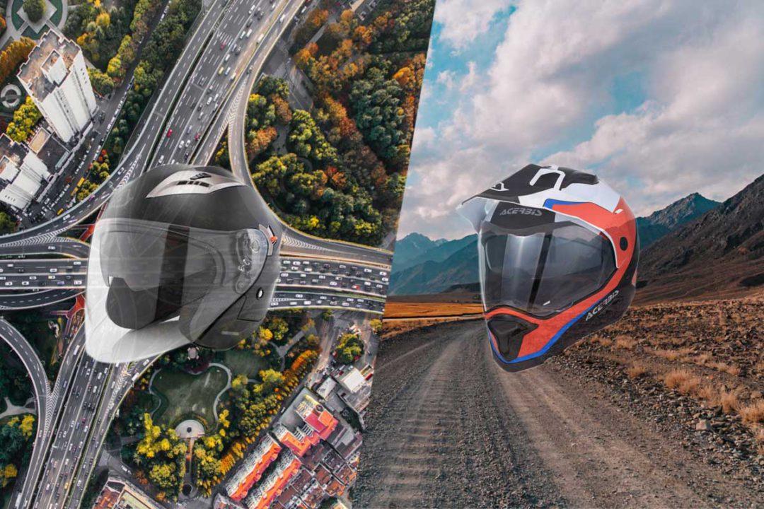 6 nuevos cascos Acerbis para conquistar la ciudad y la montaña en moto